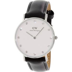 Daniel Wellington Women's Classy Sheffield 0961DW Black Leather Quartz Watch