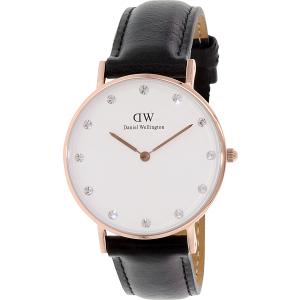 Daniel Wellington Women's Classy Sheffield 0951DW Black Leather Quartz Watch