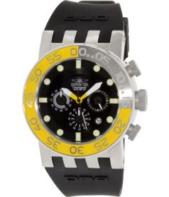 Invicta Men's Dna Diver 12414 Black Rubber Swiss Chronograph Watch