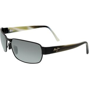 Maui Jim Men's Polarized Black Coral 249-2M Black Rectangle Sunglasses
