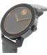 Movado Men's Bold 3600297 Black Resin Swiss Quartz Watch - Side Image Swatch