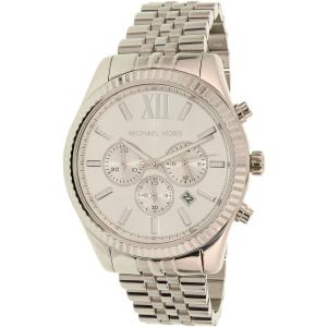 Michael Kors Men's Lexington MK8405 Silver Stainless-Steel Quartz Watch