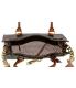 Michael Kors Women's Hamilton Signature Leather Top-Handle Satchel - Back Image Swatch