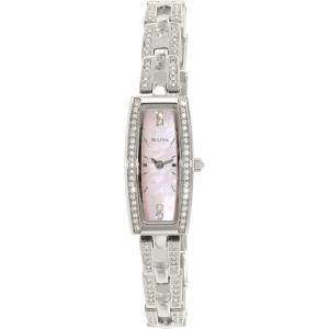 Bulova Women's Crystal 96L208 Silver Stainless-Steel Quartz Watch