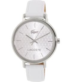 Lacoste Women's 2000886 Silver Leather Quartz Watch