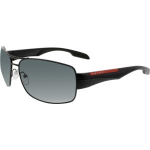 Prada Men's Polarized  PS53NS-1BO5Z1-65 Black Rectangle Sunglasses