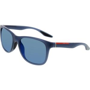 Prada Men's  PS03OS-JAP9P1-55 Blue Square Sunglasses