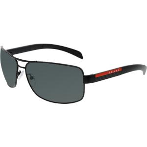 Prada Men's  PS54IS-1BO1A1-65 Black Aviator Sunglasses