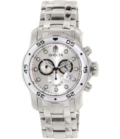 Invicta Men's Pro Diver 0071 Silver Stainless-Steel Swiss Quartz Watch