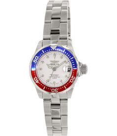 Invicta Women's Pro Diver 17033 Silver Stainless-Steel Quartz Watch