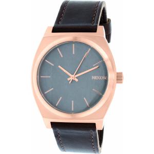 Nixon Men's Time Teller A0452001 Rose Gold Leather Quartz Watch