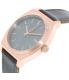 Nixon Men's Time Teller A0452001 Rose Gold Leather Quartz Watch - Side Image Swatch