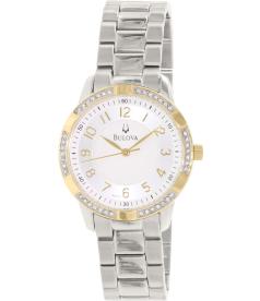 Bulova Women's 98L176 Silver Stainless-Steel Quartz Watch