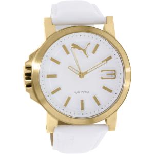 Puma Men's PU103462016 White Leather Quartz Watch
