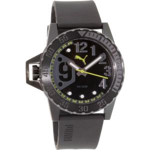 Puma Men's PU103761003 Black Rubber Quartz Watch