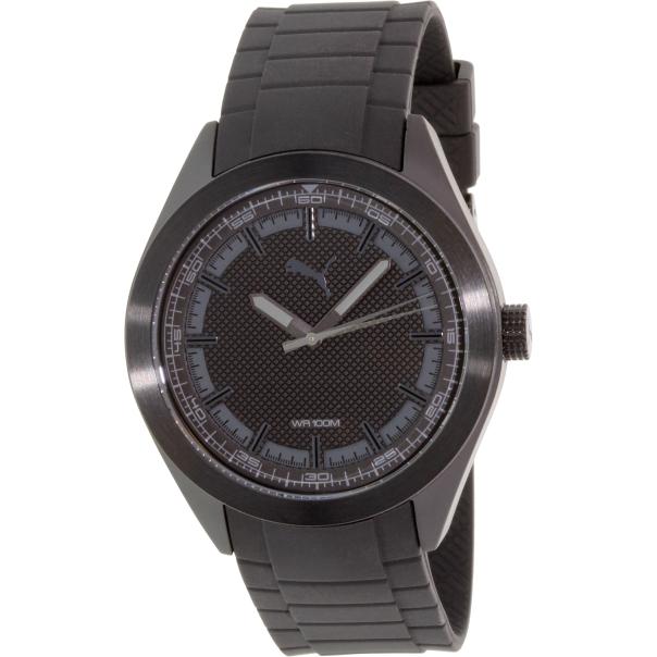 Puma Men's PU103321006 Black Rubber Quartz Watch