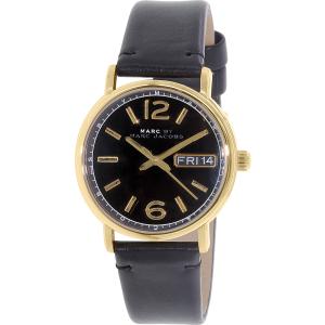 Marc by Marc Jacobs Men's Fergus MBM8651 Black Leather Quartz Watch