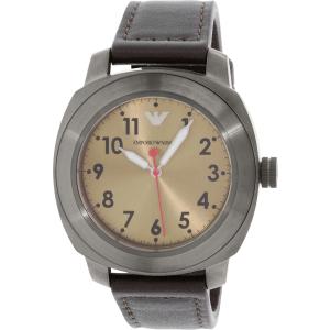 Emporio Armani Men's Sportivo AR6058 Brown Leather Quartz Watch