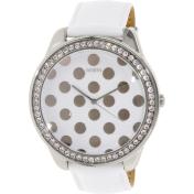 Guess Women's U0258L2 White Leather Quartz Watch