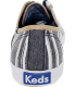 Keds Women's Champion Wash Stripe Ankle-High Canvas Flat Shoe - Back Image Swatch