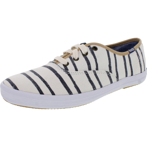 Keds Women's Champion Wash Stripe Ankle-High Canvas Flat Shoe