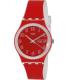 Swatch Women's Originals GW705 Red Silicone Swiss Quartz Watch - Main Image Swatch