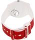 Swatch Women's Originals GW705 Red Silicone Swiss Quartz Watch - Back Image Swatch