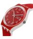 Swatch Women's Originals GW705 Red Silicone Swiss Quartz Watch - Side Image Swatch