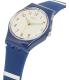 Swatch Women's Originals LN149 Blue Silicone Swiss Quartz Watch - Side Image Swatch