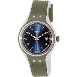 Swatch Men's Irony YES4004 Olive Rubber Swiss Quartz Watch