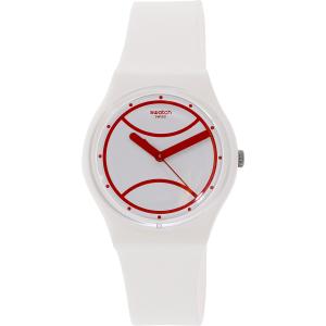 Swatch Men's Originals GZ294 White Silicone Swiss Quartz Watch