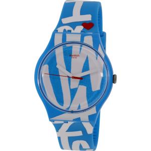 Swatch Women's Originals SUOS103 Aqua Rubber Swiss Quartz Watch