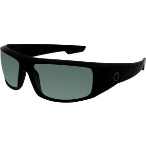 Spy Men's Logan 670939973863 Black Wrap Sunglasses