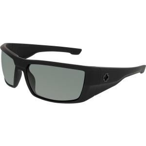 Spy Men's Polarized Dirk 672052973864 Black Wrap Sunglasses