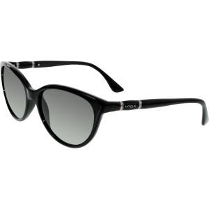 Vogue Women's Gradient  VO2894SB-W44/11-56 Black Cat Eye Sunglasses