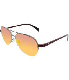Vogue Women's  VO3924S-548S6Q-57 Gunmetal Aviator Sunglasses