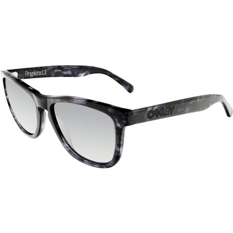 Oakley Women's Mirrored Frogskins OO2043-08 Black Square Sunglasses