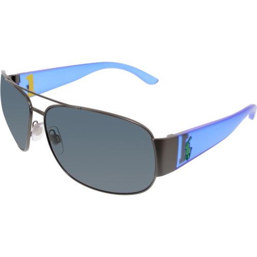 2bc4bc825ef4 ... Ph 3063 Sunglasses 903887 Black UPC 713132379752 product image for Polo  Men's PH3063-915787-65 Blue Rectangle Sunglasses ...