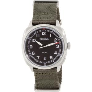 Bulova Men's 96B229 Silver Nylon Quartz Watch