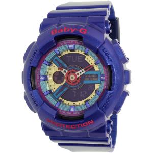Casio Women's Baby-G BA112-2A Purple Plastic Quartz Watch