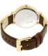 Armani Exchange Women's AX5310 Gold Leather Quartz Watch - Back Image Swatch