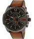 Diesel Men's DZ4343 Brown Leather Quartz Watch - Main Image Swatch