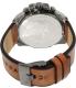 Diesel Men's DZ4343 Brown Leather Quartz Watch - Back Image Swatch