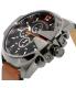 Diesel Men's DZ4343 Brown Leather Quartz Watch - Side Image Swatch