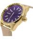 Diesel Women's DZ5460 Gold Leather Quartz Watch - Side Image Swatch