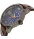 Diesel Men's DZ7339 Brown Leather Quartz Watch - Side Image Swatch