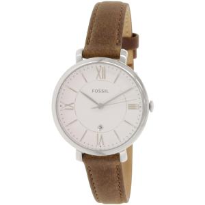 Fossil Women's Jacqueline ES3708 Brown Leather Quartz Watch