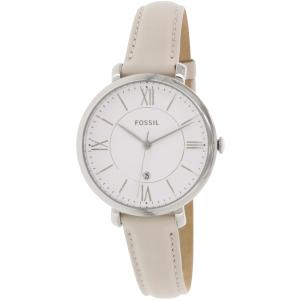 Fossil Women's Jacqueline ES3793 Beige Leather Quartz Watch