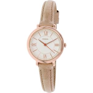 Fossil Women's Jacqueline ES3802 Beige Leather Quartz Watch