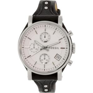 Fossil Women's ES3817 Silver Leather Quartz Watch